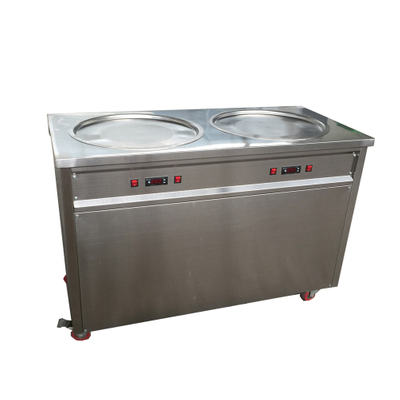 Best Double Pan New Arrival Flat Pan Fried Ice Cream Roll Machine