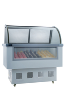 Factory Ice Cream Popsicle Display Showcase Freezer Counter Refrigeration Equipment
