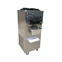 Big Capacity 3 Flavor Rainbow Used Commercial Mini Soft Italian Ice Cream Machine