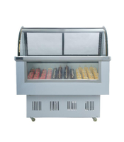 China Factory Gelato Mini Ice Cream Display Showcase Popsicle Display Freezer