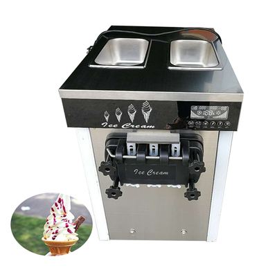 China Commercial 3 nozzles soft serve ice cream making machine