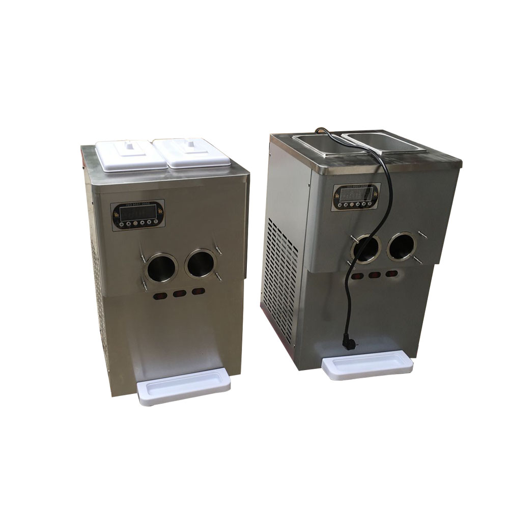 New design 3 Flavor Super Silence Small Desktop Commercial Mini Soft Ice Cream Machine supplier